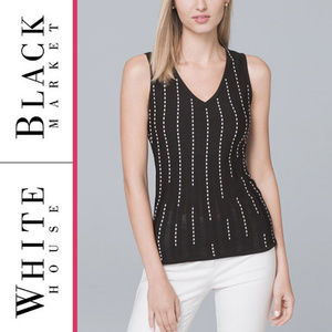 WHBM   'Vertical Stitched' Sweater Tank Top